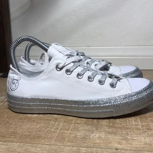 b92d262ce970 Converse Shoes - Converse x Miley Cyrus white glitter all stars
